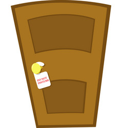 do not disturb door vector image