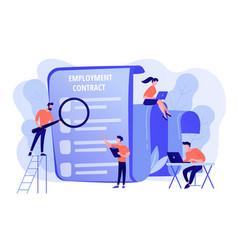 Employment agreement concept vector