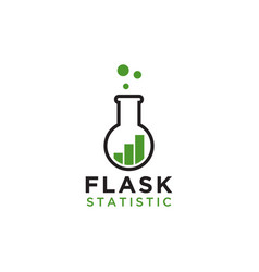flask statistic logo design template vector image