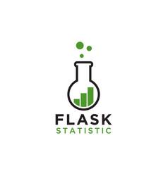 Flask statistic logo design template vector