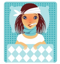 flu vector image