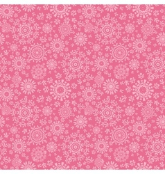 Folk pink floral circles texture abstract seamless vector