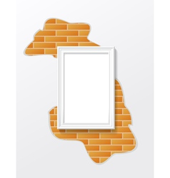 Frame on a brick wall vector image