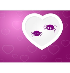 Funny Spiders love vector image