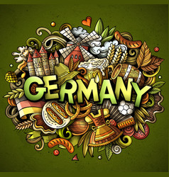 germany hand drawn cartoon doodles vector image