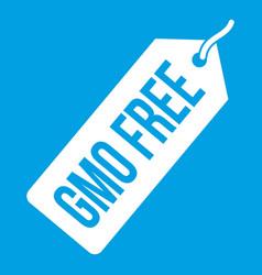 gmo free price tag i icon white vector image