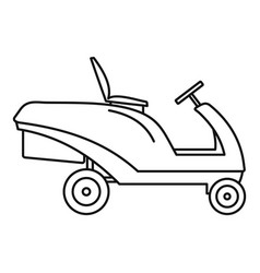 grass cut truck icon outline style vector image