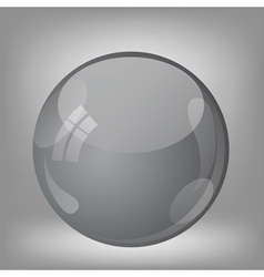 Grey sphere vector