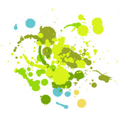 grunge hand made ink drop elements vector image