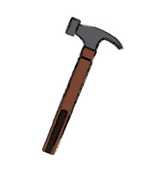 hammer construction tool vector image