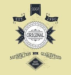 Hand lettered catchword vintage tag vector
