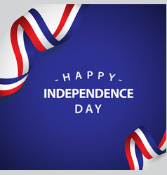 Happy france independent day template design vector