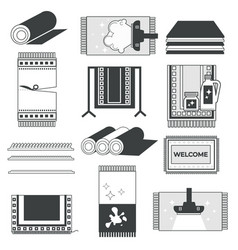 home carpets rugs and mats cleaning and washing vector image