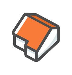 home simple building icon cartoon vector image
