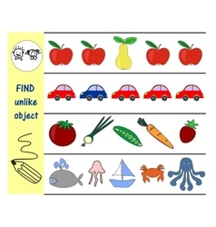 homework for kids how to find an extra subject vector image