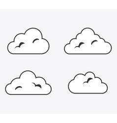 Isolated design of clouds icon set vector image