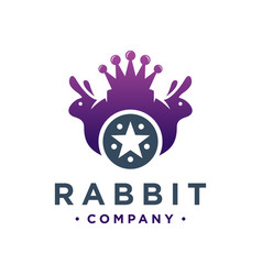King rabbit logo design vector