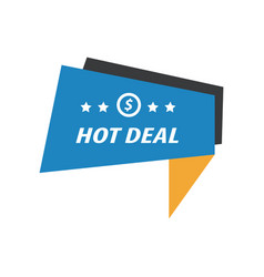 Label hot deal blue yellow black vector