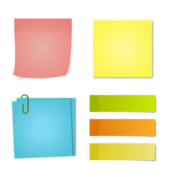 multicolored notes of different shapes shadows vector image
