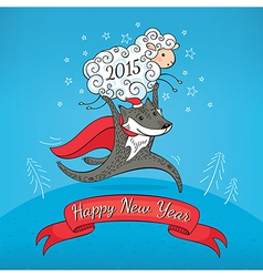 New year greeting card vector