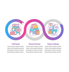 Online library infographic template read ebooks vector