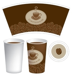 Paper cup for hot drink vector