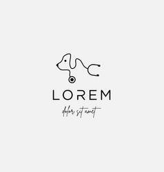 Pet dog medical logo design signs vector