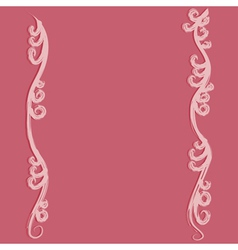 Pink flourish curves vector image