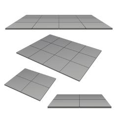 platform pedestal tiles vector image