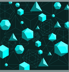 Platonic solids abstract background vector
