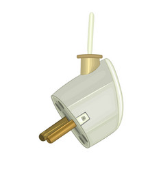 Plug isolated on white background vector