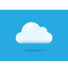 Professional Cloud Icon Isolated on Blue vector