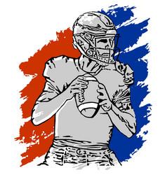 Quarterback vector