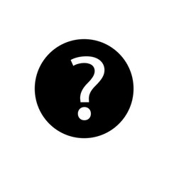 question mark icon in circle on white vector image