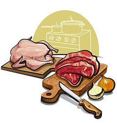 raw meat for cooking vector image