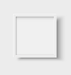 Realistic square empty picture frame vector