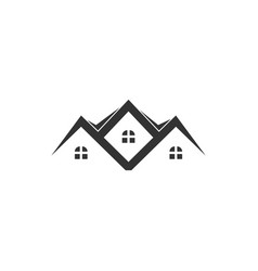residence house icon graphic design template vector image