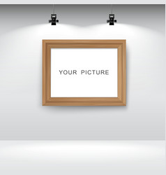 Room with picture frame vector image