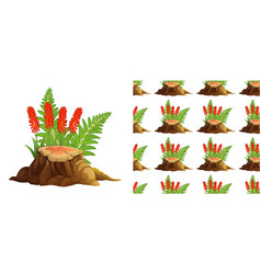 seamless background design with aloe vera vector image