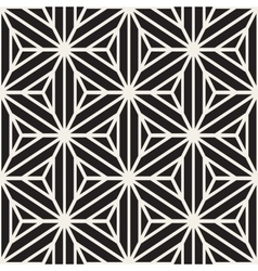 Seamless black and white star lines grid vector