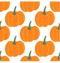 Seamless pattern with hand drawn pumpkins farm vector