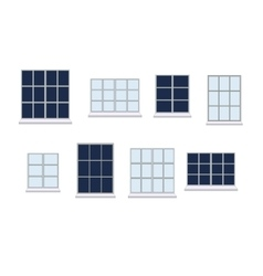Set of various window compositions vector