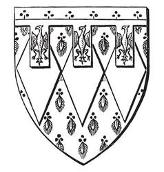 shield sir edward de montague is a escutcheon vector image