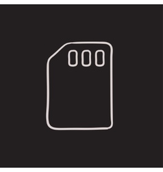 Sim card sketch icon vector image