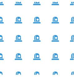 Siren icon pattern seamless white background vector