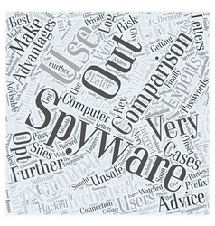 Spyware comparison Word Cloud Concept vector