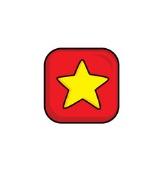 Star video game asset menu icon button layer art vector