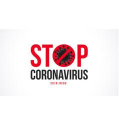 stop coronavirus typography design vector image