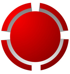 Target mark reticle crosshair icon for focus vector