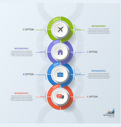 timeline business vertical infographic template 4 vector image